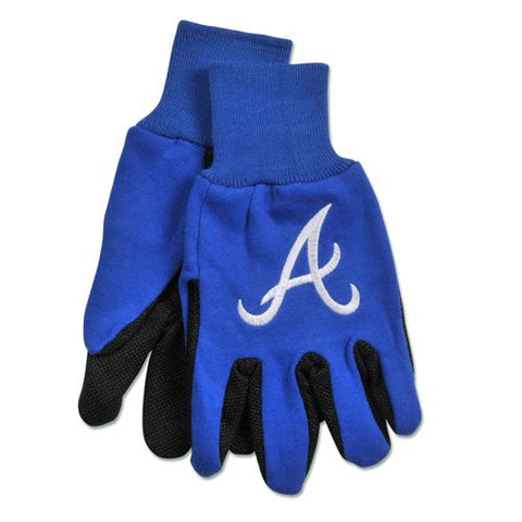 Atlanta Braves Two Tone Gloves - Adult Size
