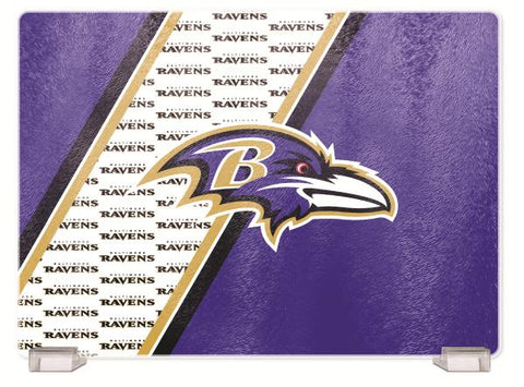 BALTIMORE RAVENS TEMPERED GLASS CUTTING BOARD