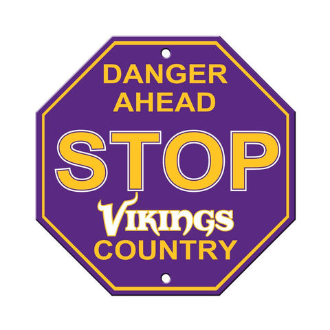 NFL Minnesota Vikings Stop Sign