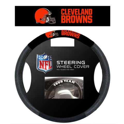 NFL Cleveland Browns Poly-Suede Steering Wheel Cover