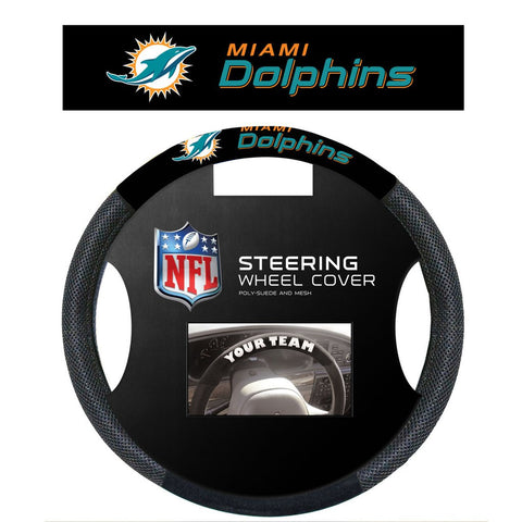 NFL Miami Dolphins Poly-Suede Steering Wheel Cover