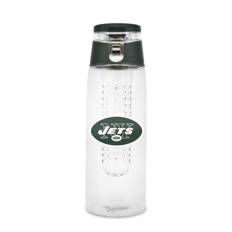 NEW YORK JETS PLASTIC INFUSER SPORT BOTTLE 20 OZ.