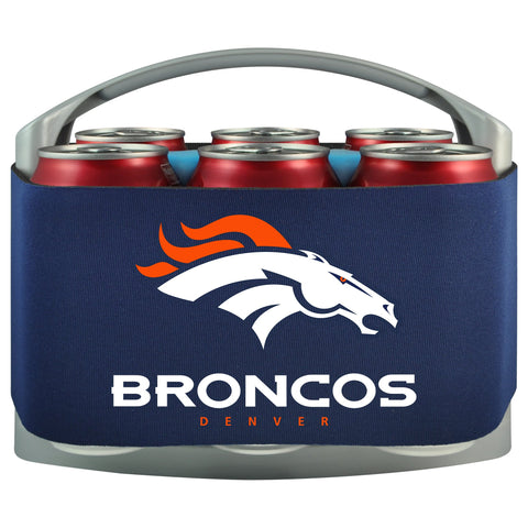 Denver Broncos Cooler With Neoprene Sleeve And Freezer Component