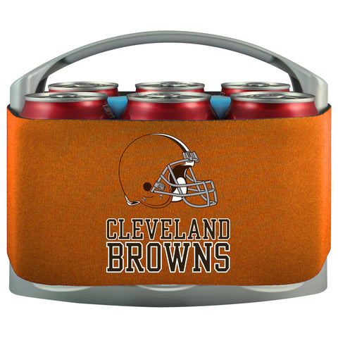 Cleveland Browns Cooler With Neoprene Sleeve And Freezer Component