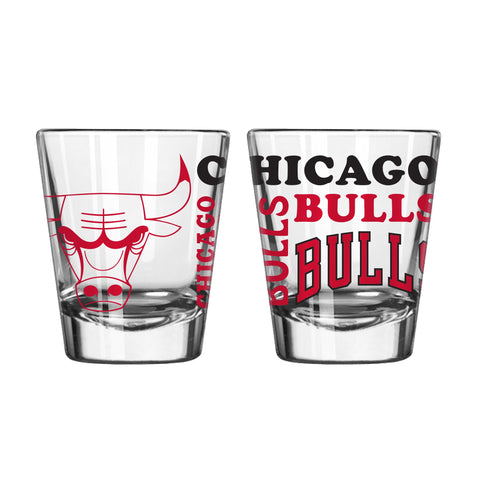 Chicago Bulls 2Oz Spirit Shot Glasses