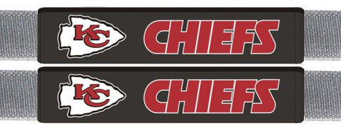 Kansas City Chiefs Leather Seat Belt Pads