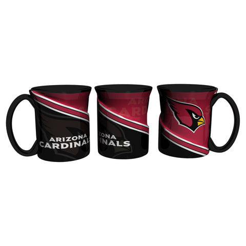 Arizona Cardinals 18Oz Sculpted Ceramic Twist Mugs