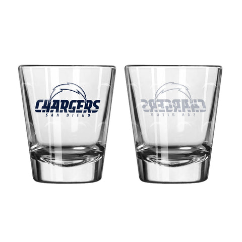Los Angeles Chargers 2Oz Satin Etch Shot Glasses