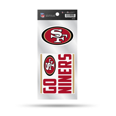 49Ers Double Up Die Cut Sticker