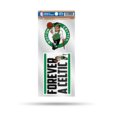 Celtics Double Up Die Cut Sticker