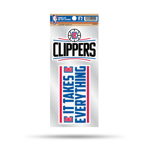 Clippers Double Up Die Cut Sticker