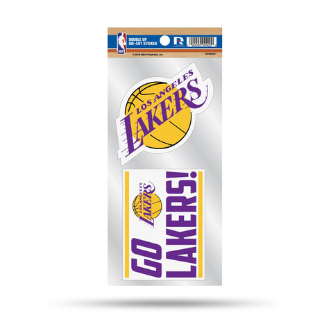 Lakers Double Up Die Cut Sticker