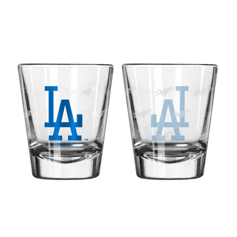 Los Angeles Dodgers 2Oz Satin Etch Shot Glasses