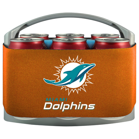 Miami Dolphins Cooler With Neoprene Sleeve And Freezer Component