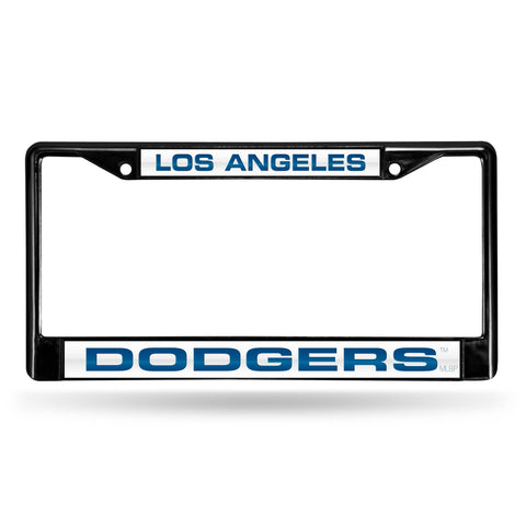 Los Angeles Dodgers Black Laser Chrome Frame