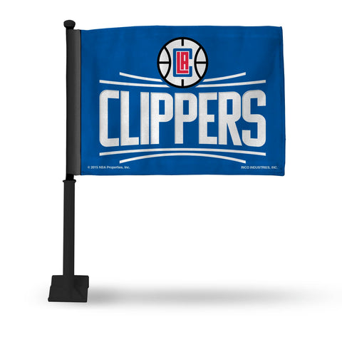 Clippers Car Flag (Black Pole)