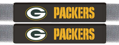 Green Bay Packers Leather Seat Belt Pads