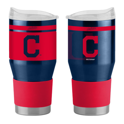 Cleveland Indians 24Oz Ultra Twist Tumblers - 18/8 Steel Vacuum Insulated With High Lip Slider Lid