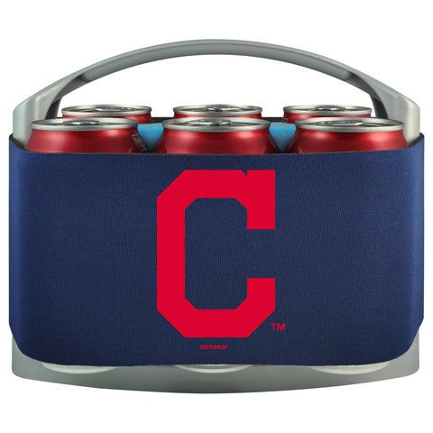 Cleveland Indians Cooler With Neoprene Sleeve And Freezer Component