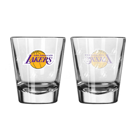 Los Angeles Lakers 2Oz Satin Etch Shot Glasses
