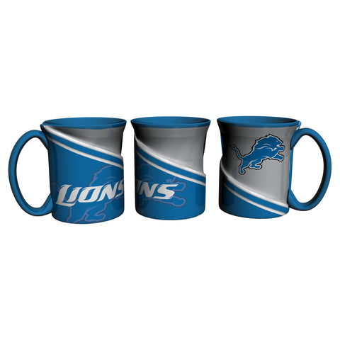 Detroit Lions 18Oz Sculpted Ceramic Twist Mugs