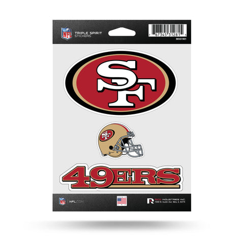 49Ers Triple Spirit Stickers