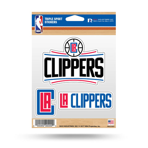 Clippers Triple Spirit Stickers