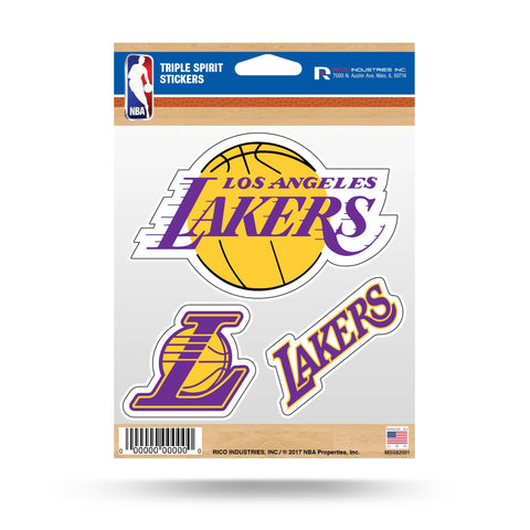 Lakers Triple Spirit Stickers