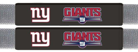 New York Giants Leather Seat Belt Pads