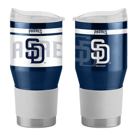 San Diego Padres 24Oz Ultra Twist Tumblers - 18/8 Steel Vacuum Insulated With High Lip Slider Lid