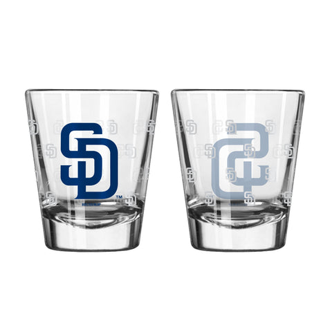 San Diego Padres 2Oz Satin Etch Shot Glasses