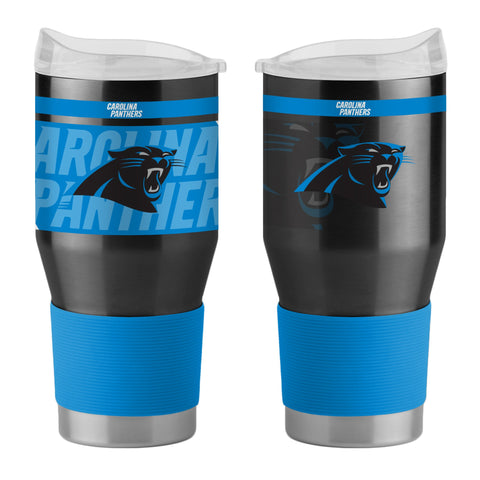 Carolina Panthers 24Oz Ultra Twist Tumblers - 18/8 Steel Vacuum Insulated With High Lip Slider Lid