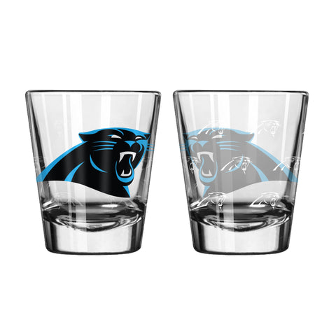 Carolina Panthers 2Oz Satin Etch Shot Glasses