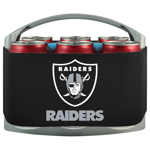 Oakland Raiders Cooler With Neoprene Sleeve And Freezer Component