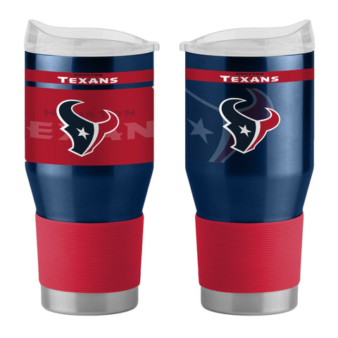 Houston Texans 24Oz Ultra Twist Tumblers - 18/8 Steel Vacuum Insulated With High Lip Slider Lid