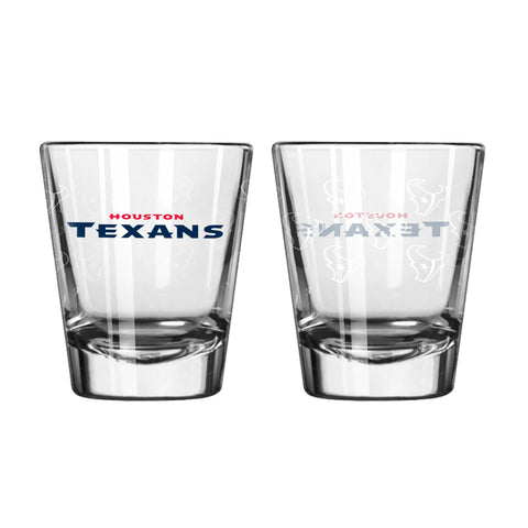 Houston Texans 2Oz Satin Etch Shot Glasses