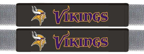Minnesota Vikings Leather Seat Belt Pads