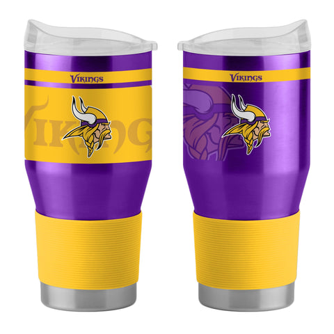 Minnesota Vikings 24Oz Ultra Twist Tumblers - 18/8 Steel Vacuum Insulated With High Lip Slider Lid