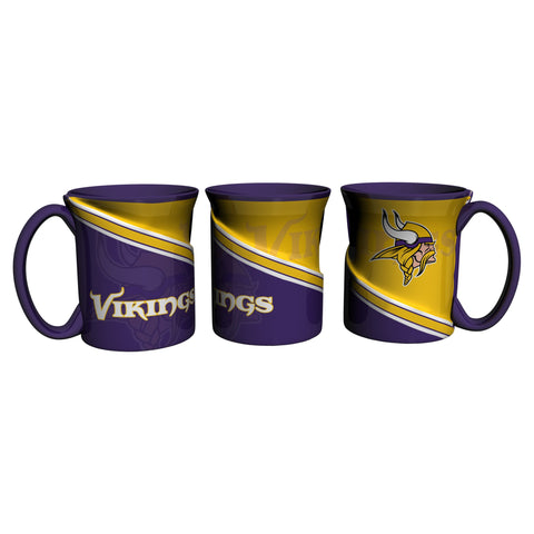 Minnesota Vikings 18Oz Sculpted Ceramic Twist Mugs