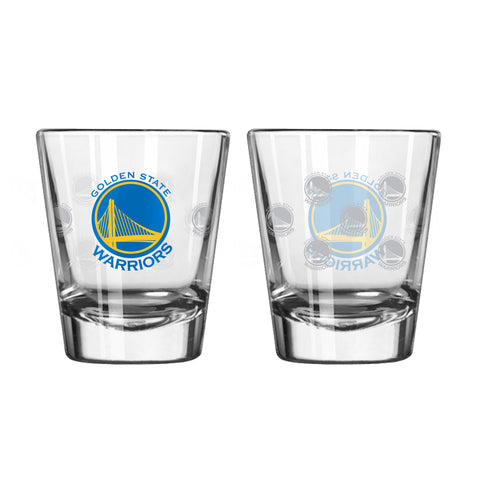 Golden State Warriors 2Oz Satin Etch Shot Glasses