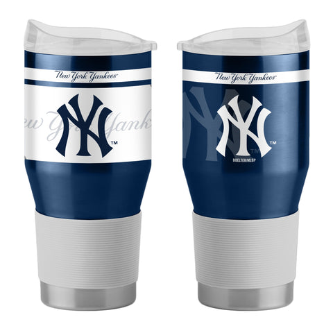 New York Yankees 24Oz Ultra Twist Tumblers - 18/8 Steel Vacuum Insulated With High Lip Slider Lid