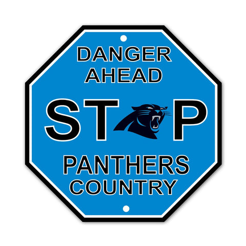 NFL Carolina Panthers Stop Sign