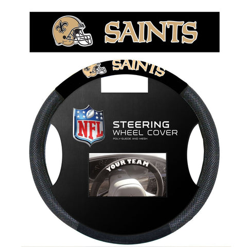NFL New Orleans Saints Poly-Suede Steering Wheel Cover