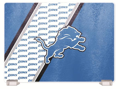 DETROIT LIONS TEMPERED GLASS CUTTING BOARD