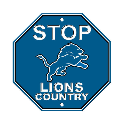 NFL Detroit Lions Stop Sign