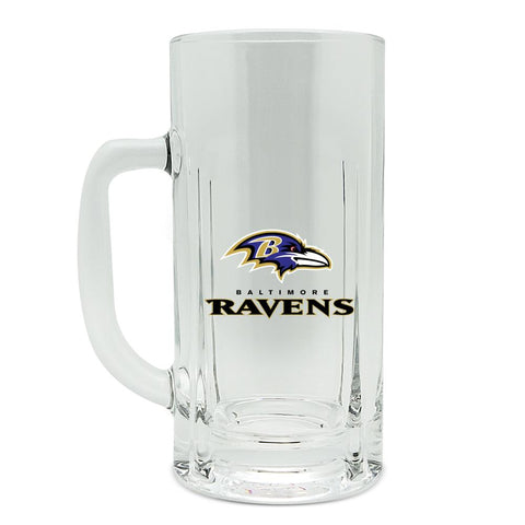 BALTIMORE RAVENS GLASS HEAVY DUTY KRAFT MUG - 20 oz