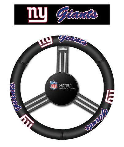 NFL New York Giants Leather Steering Wheel Cover