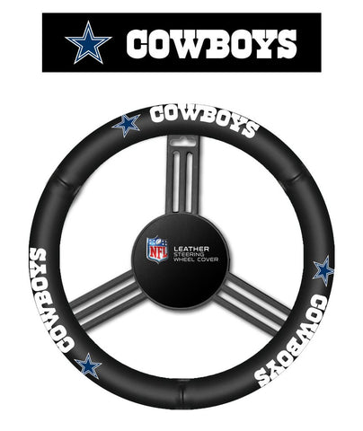 NFL Dallas Cowboys Leather Steering Wheel Cover