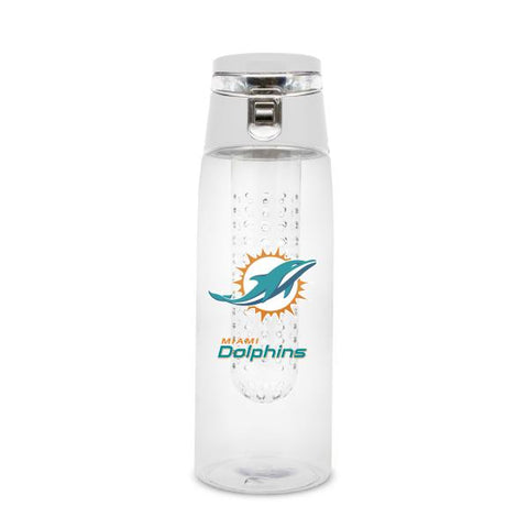 MIAMI DOLPHINS PLASTIC INFUSER SPORT BOTTLE 20 OZ.