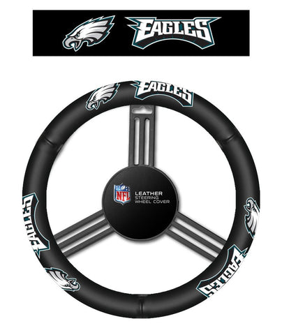 NFL Philadelphia Eagles Leather Steering Wheel Cover